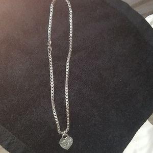 Tiffany and co 16inch venician chain & charm